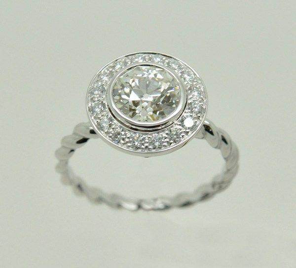 bague or blanc 2 anneaux