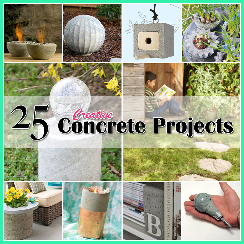 25 creative concrete projects concrete projects - Concrete projects for the garden ...