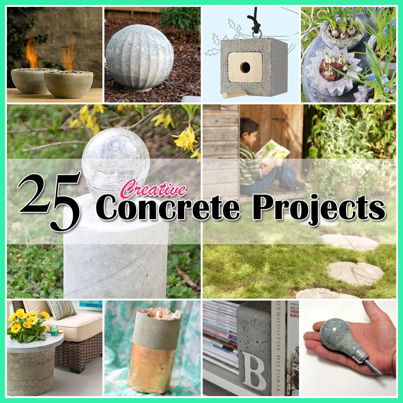 25 creative concrete projects pinterest beton deko diy beton und zement. Black Bedroom Furniture Sets. Home Design Ideas