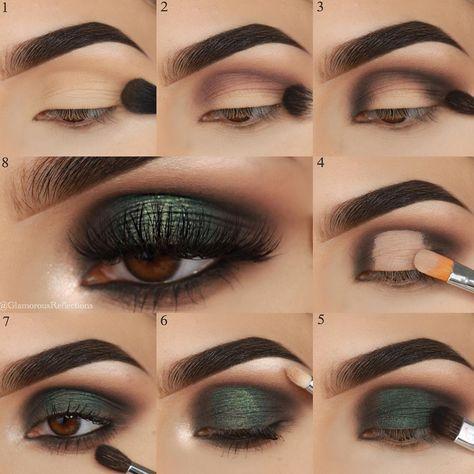 "Asma ✨ on Instagram: ""#stepbystep pictorial of my latest look ✨ . All Eyeshadows used are from @motivescosmetics #motivesmakeover #lorenridinger #motivesmavens…"""