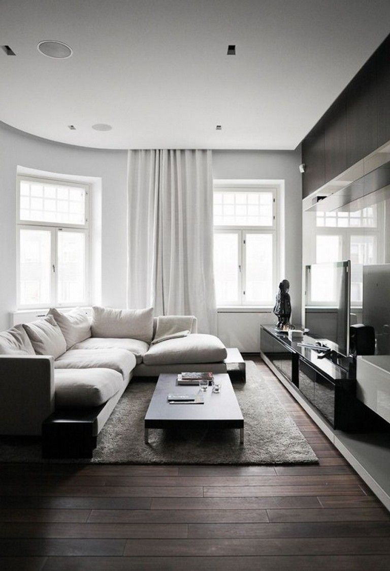 25 Exciting Living Room Decor Ideas Minimal Living Room Dark Floor Living Room Dark Living Rooms Dark floor living rooms