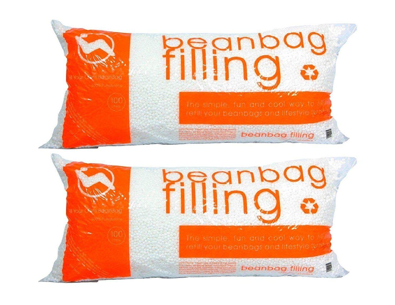 Virgin Bean Bag Chair Refill 2 Pack Bean bag refill