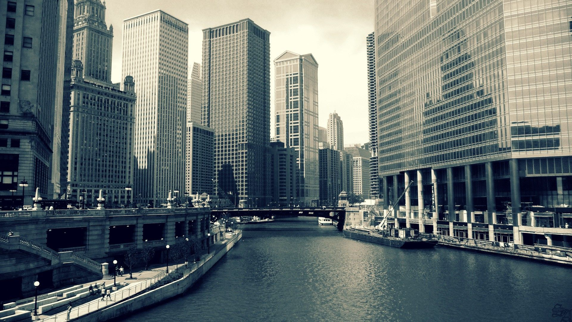 HD Wall Paper 1920X1080 Chicago Cityscapes Chicago