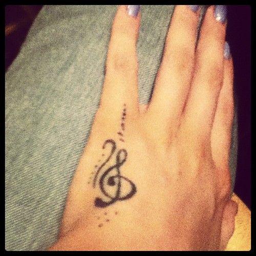 Music Note Tattoo Heart 3d Symbol 3d Hand Best Tattoo Design Ideas