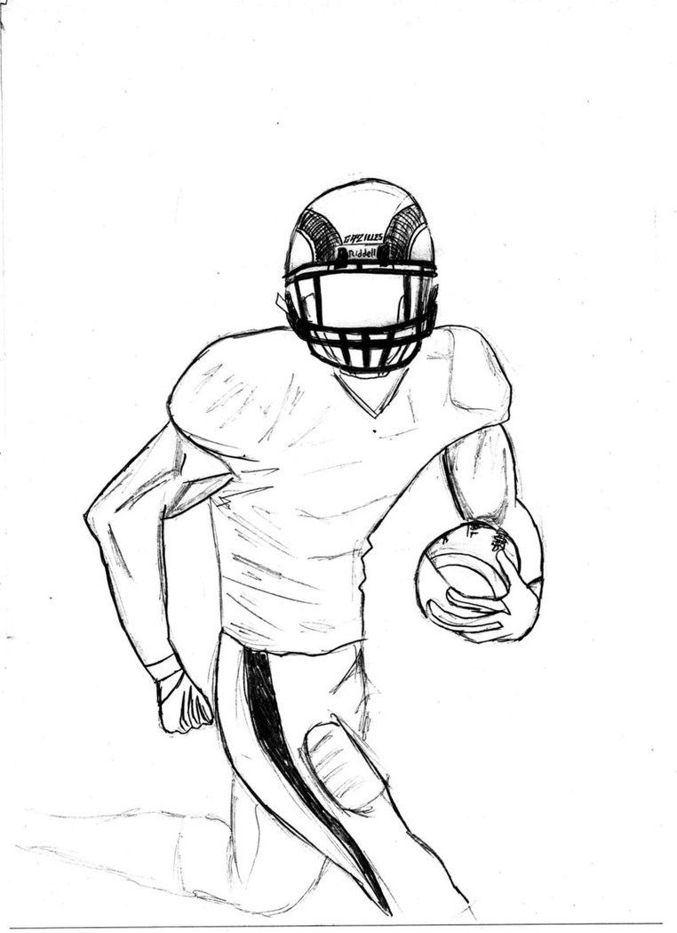 Sketch Of A Football Player Sketches Football Players Sketches