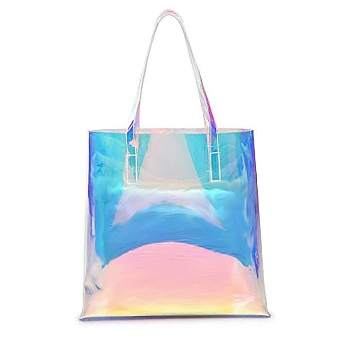Holographic Beach Tote Bag beach bag tote Tote bag