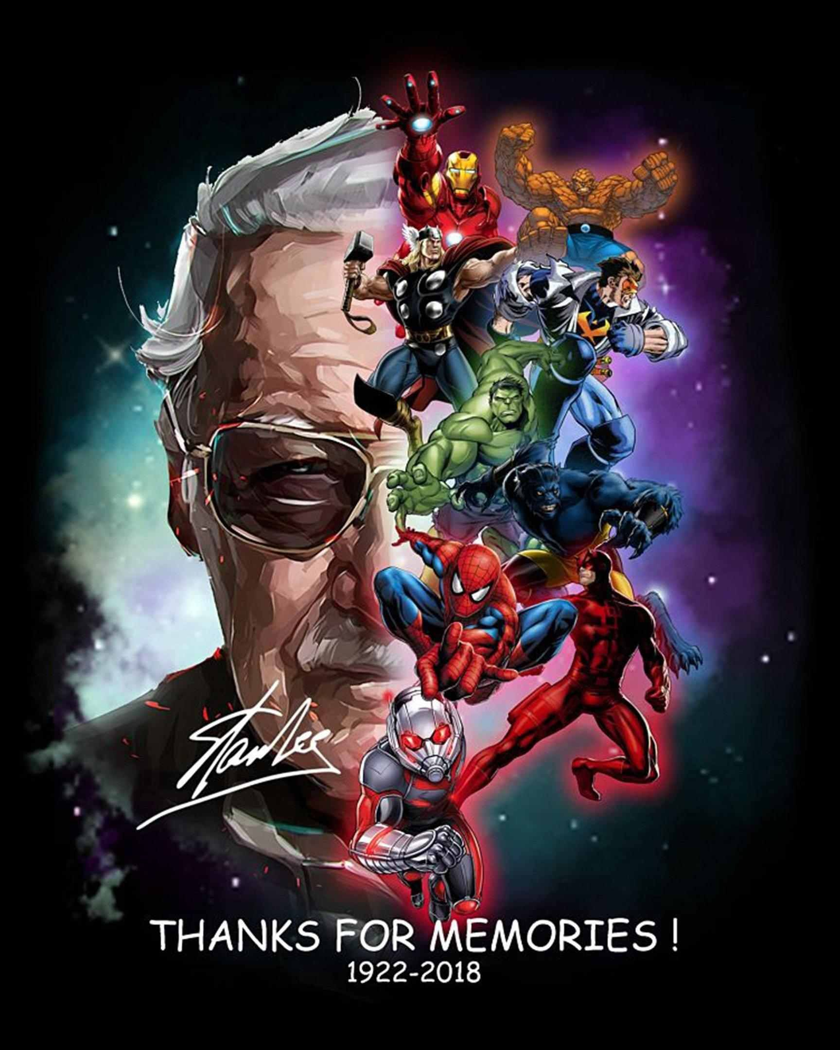 Stan Lee Memories We Will All Enjoy Poster And Canvas Avengers Poster Marvel Superheroes Marvel Characters