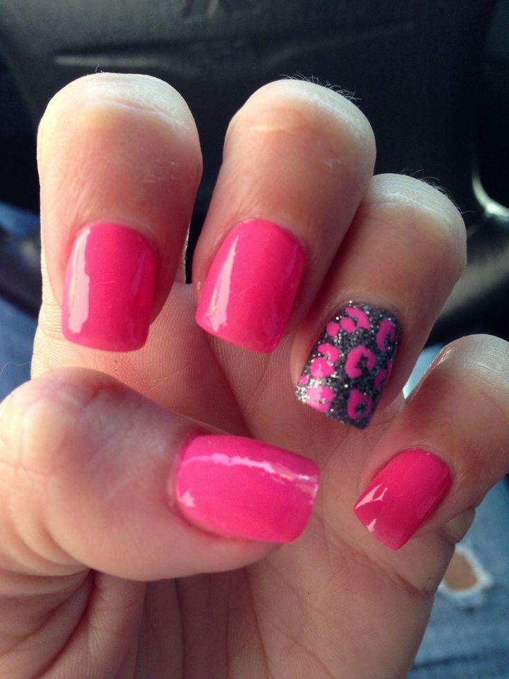 Fuchsia nail art   Nail Art   Pinterest