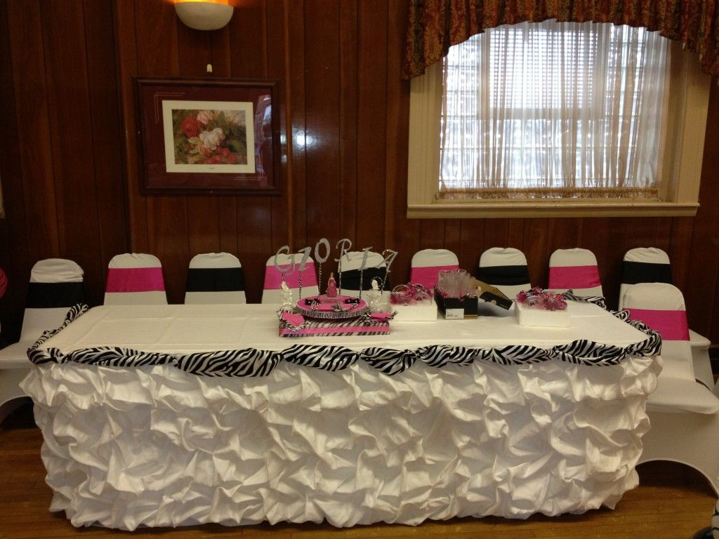 Quinceanera zebra hot pink decoration ideas seshalyn 39 s for Decoration zebre