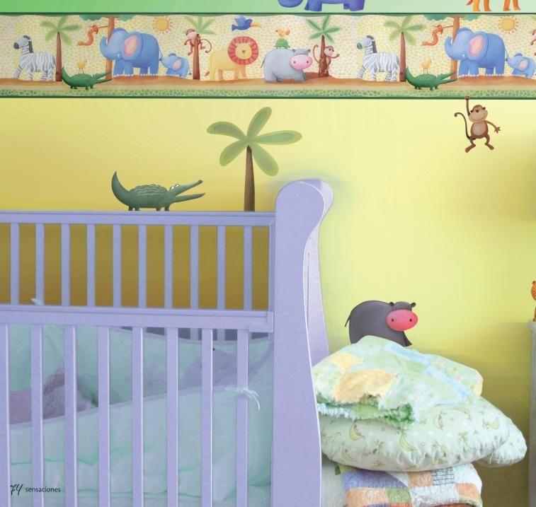 Comex el poder de las cenefas colores lobo dise os - Colores para habitaciones de bebe ...