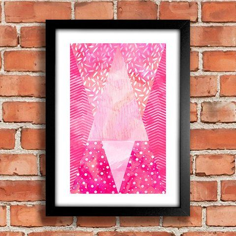 Poster Watercolor Pink - comprar online