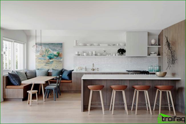 Küche ohne Oberschränke: 75+ erstaunliche funktionelle Ideen | möbel ...