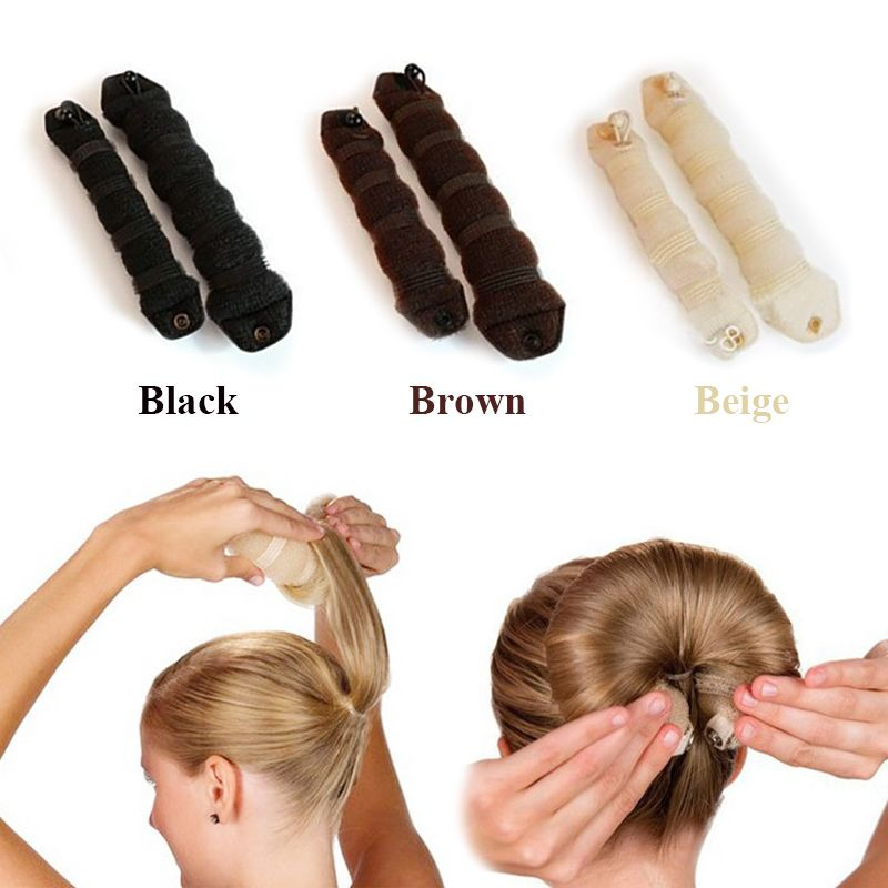 Hot 1set 2pcs Magic Hair Rollers Styling Accessories Braiders Casual Style Flexi Rods
