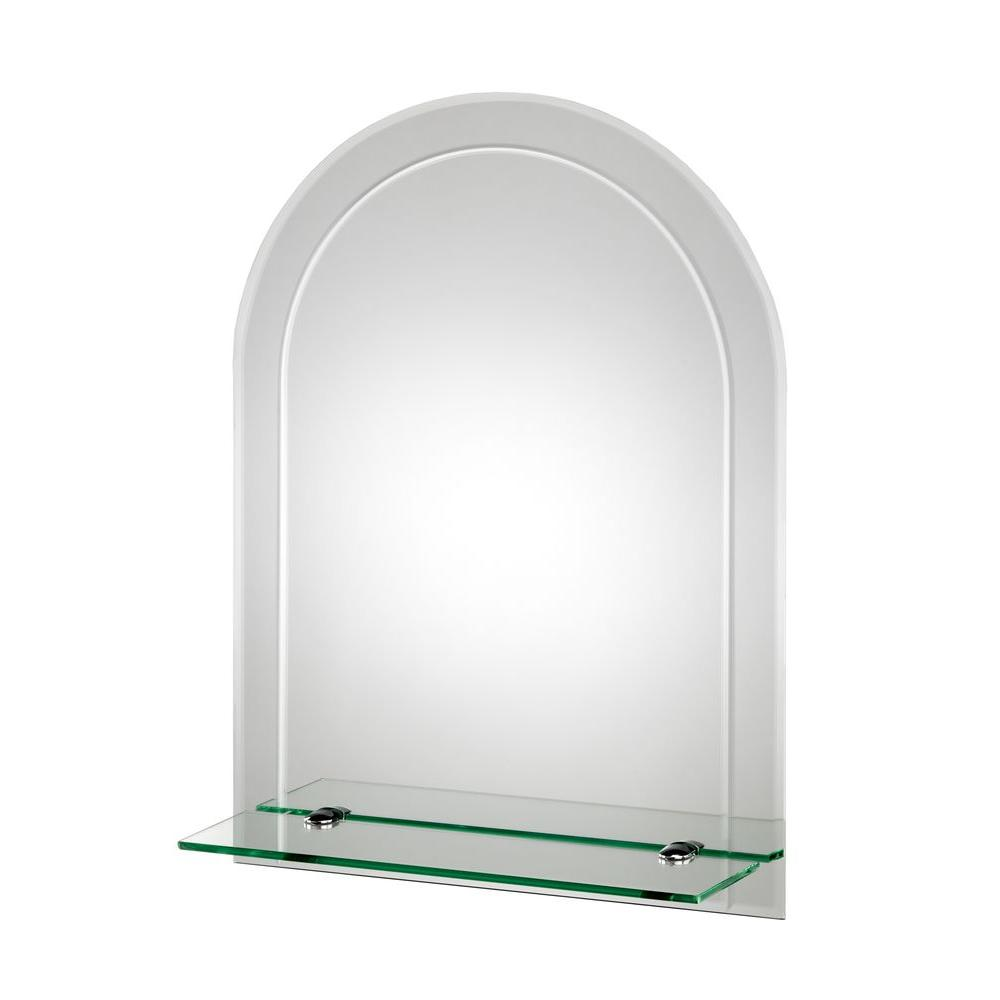 Croydex 18 In W X 24 In H Frameless Arched Beveled Edge Bathroom Vanity Mirror Mm700400yw The Home Depot Wall Mirror With Shelf Mirror With Shelf Mirror Wall [ 1000 x 1000 Pixel ]