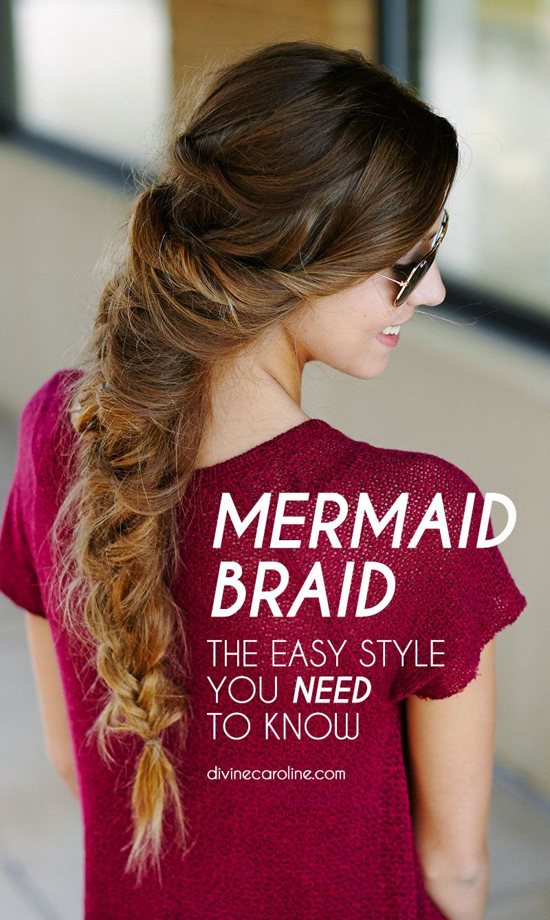 This messy mermaid braid is your new musttry hairstyle mermaid
