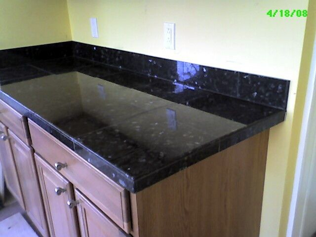 Black Tile Countertops