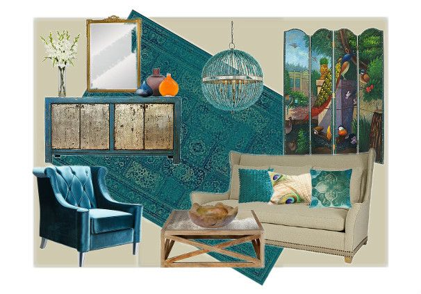 peacock inspired living room. Peacock inspired living room by Mary Levin Olioboard Pinterest Inspired Living Room  Home Design Plan