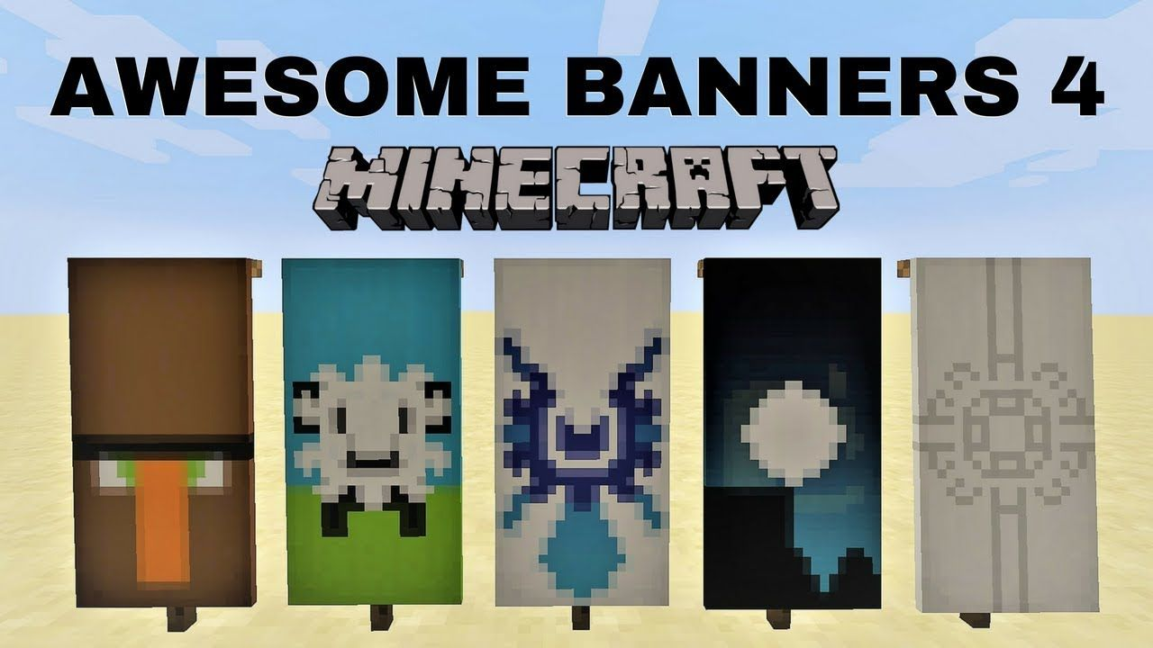 5 AWESOME MINECRAFT BANNER DESIGNS WITH TUTORIAL! 4