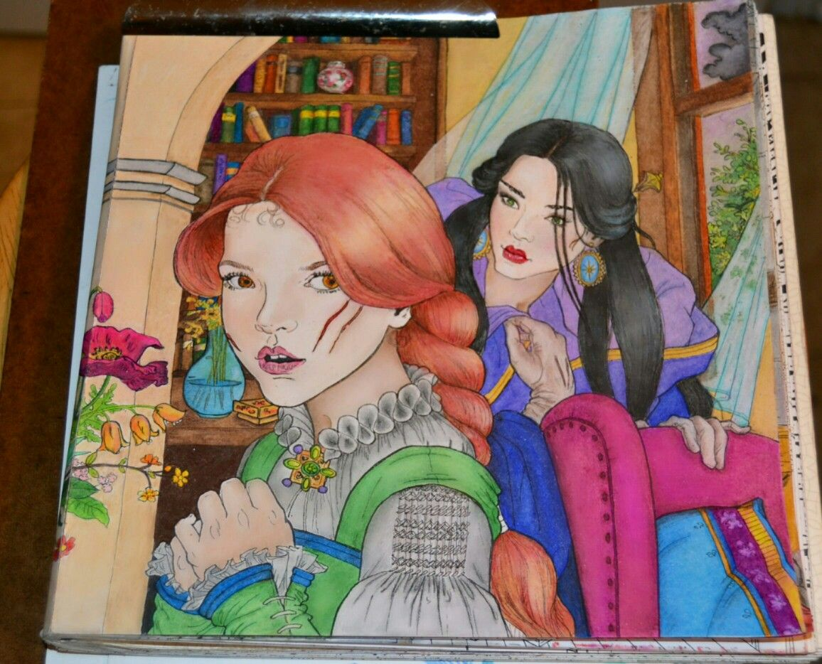 Skmedrano On Instagram Throne Of Glass Coloring Book Lysandra And  Evangeline Assassin's