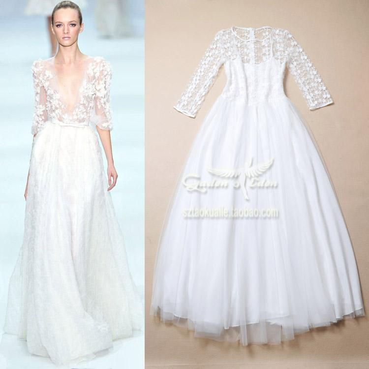 Cheap dress white dress, Buy Quality dress cold directly from China dress up casual dress Suppliers:Size Sheet:  S: Bust 84-86 Waist 70-72 Sleeve 46 Length 146M: Bust 88-90 Waist 74-76 Sleeve 47 Length 147L: