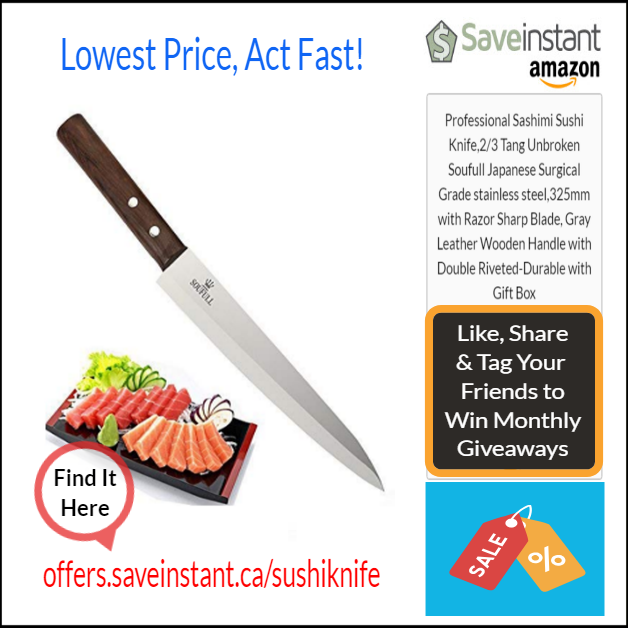 Professional Sashimi Sushi Knife 2 3 Tang Unbroken Soufull Japanese Surgical Grade Stainless Steel 325mm With Razor Sharp Blade Gray Leather Wooden Handle With Sashimi Sushi Wooden Handles Knife