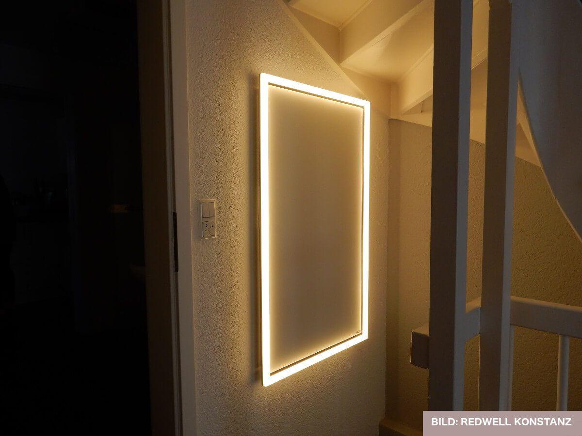 licht f r redwell infrarotheizung infrared pinterest heizung infrarotheizung und bad. Black Bedroom Furniture Sets. Home Design Ideas