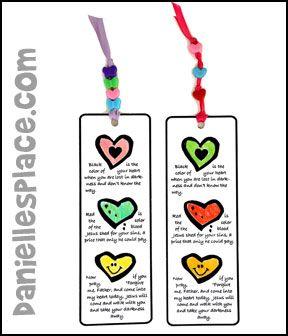 Salvation Bookmark Craft from www.daniellesplace.com ...