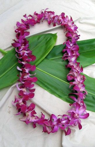 Fresh Orchid Leis Hand Made In Hawaii Orchid Lei Fresh Hawaiian Leis Hawaiian Lei