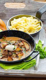 stuttgartcooking: Filet-Geschnetzeltes in Calvados-Rahm-Sauce und Nudeln