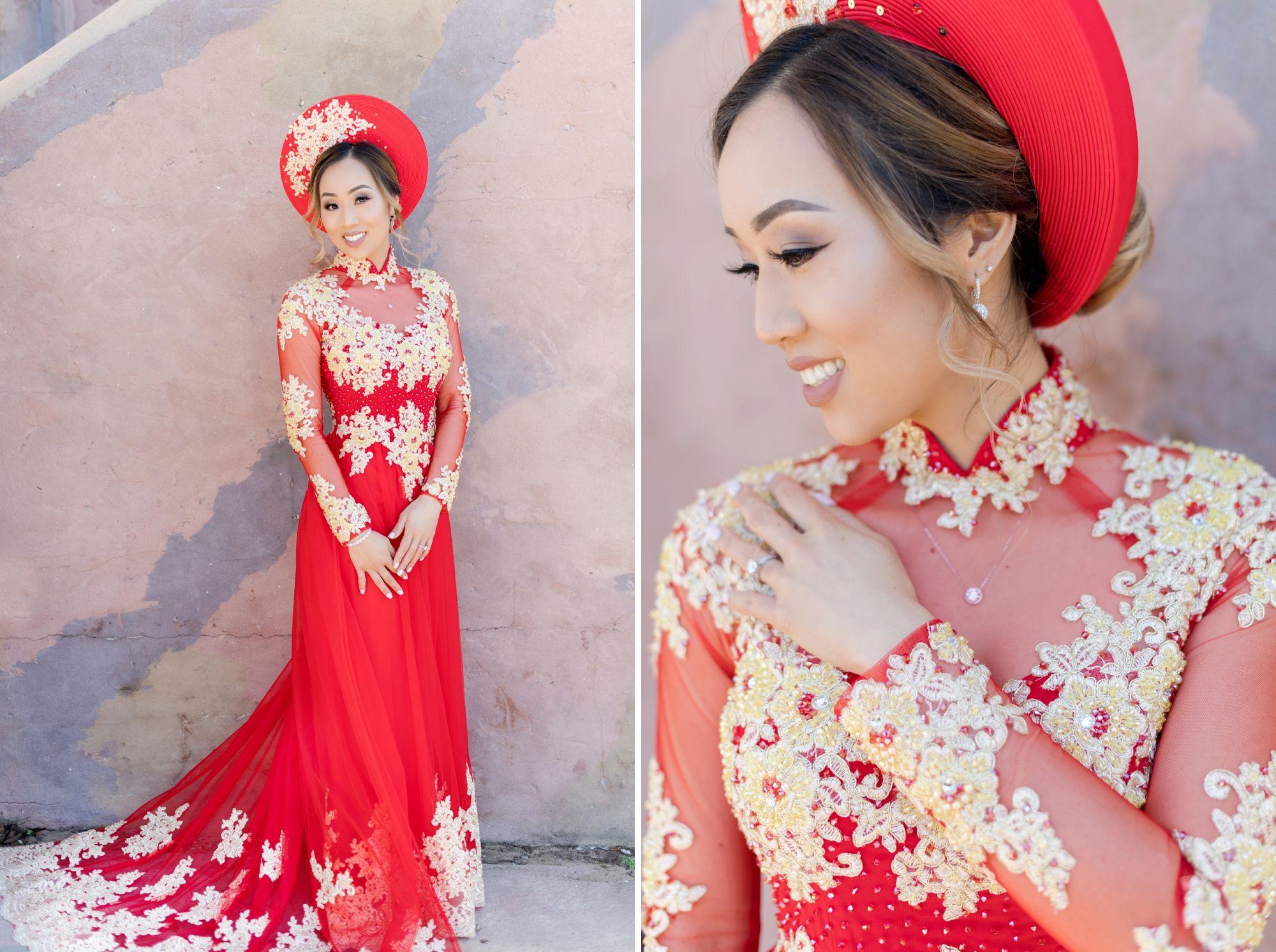 Vietnamese wedding attire