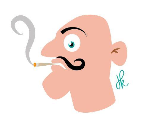 Smokin' (Illustration by Spookaap)