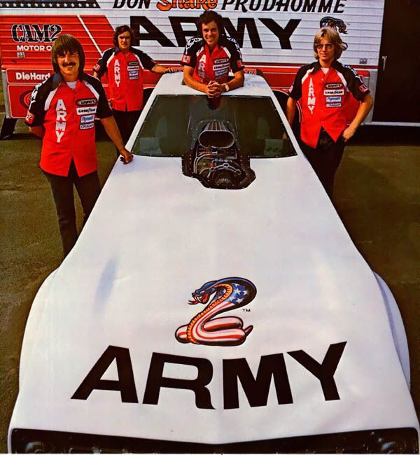 Don Prudhomme Army Arrow NHRA World Champoinship Funny Car.