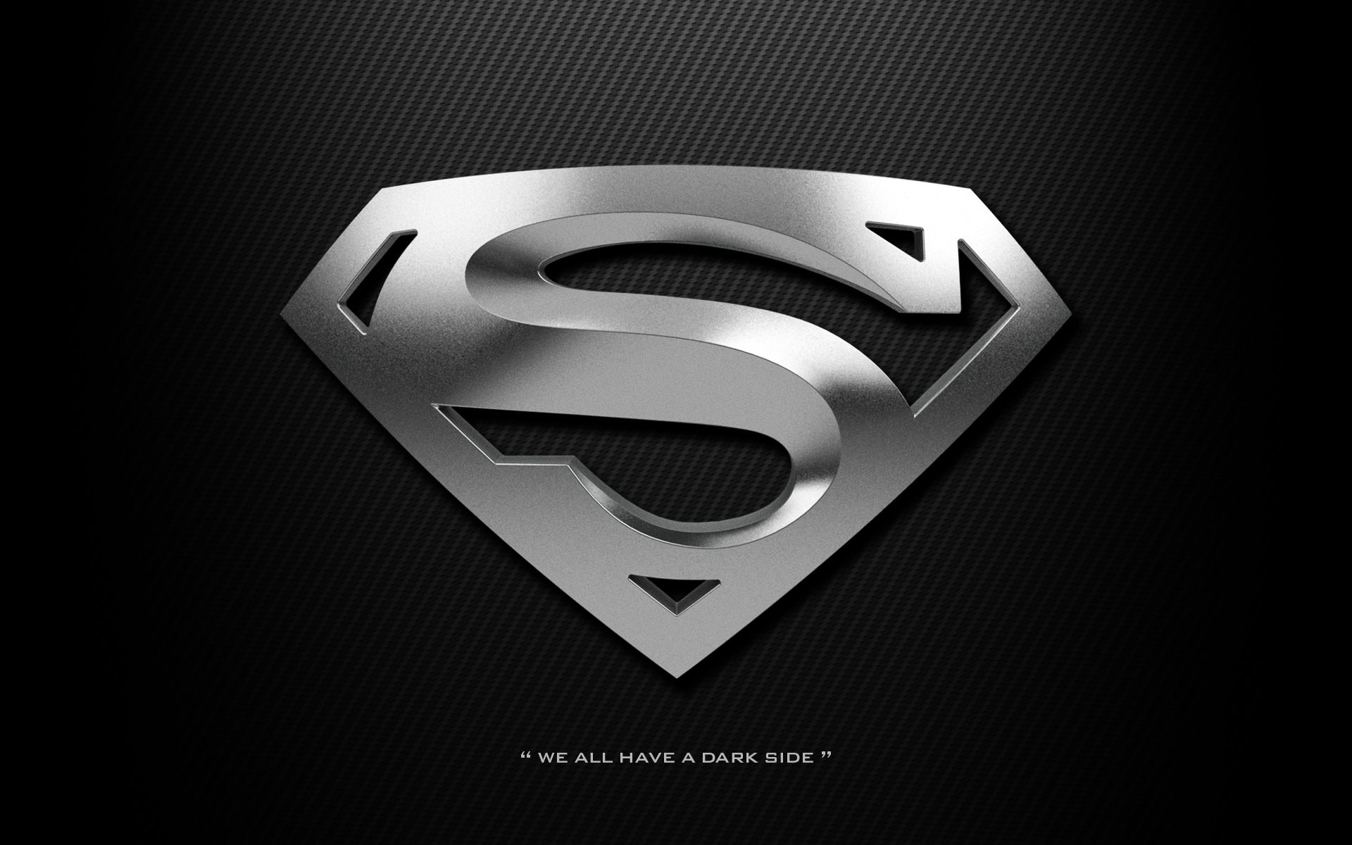 Silver Superman Shield We All Have A Dark Side Superman Wallpaper Logo Superman Logo Superman Wallpaper Dark superman logo hd wallpaper for