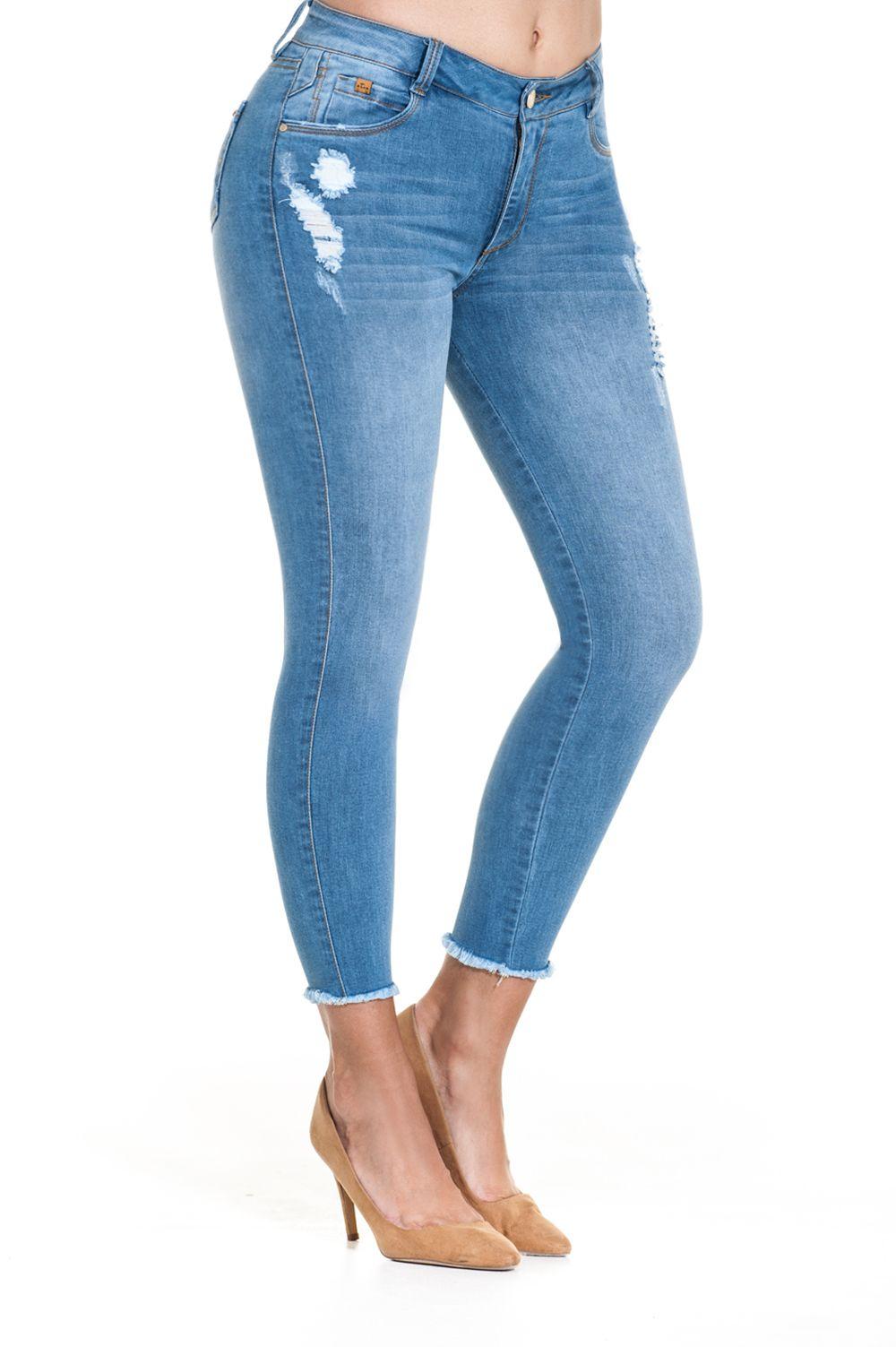 Jean Tiro Alto 5904 Pantalones De Moda Ropa De Moda Ropa