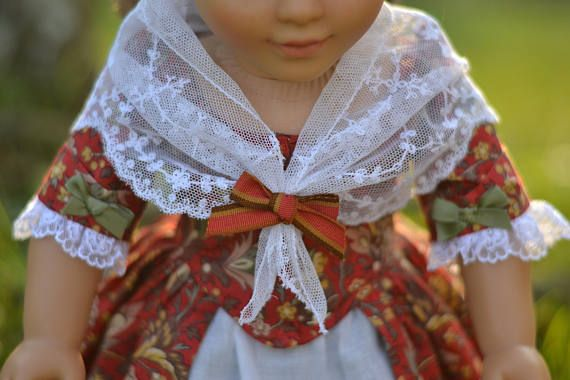 Doll Dress Colonial for American Girl 18 inch doll Felicity Elizabeth Christmas
