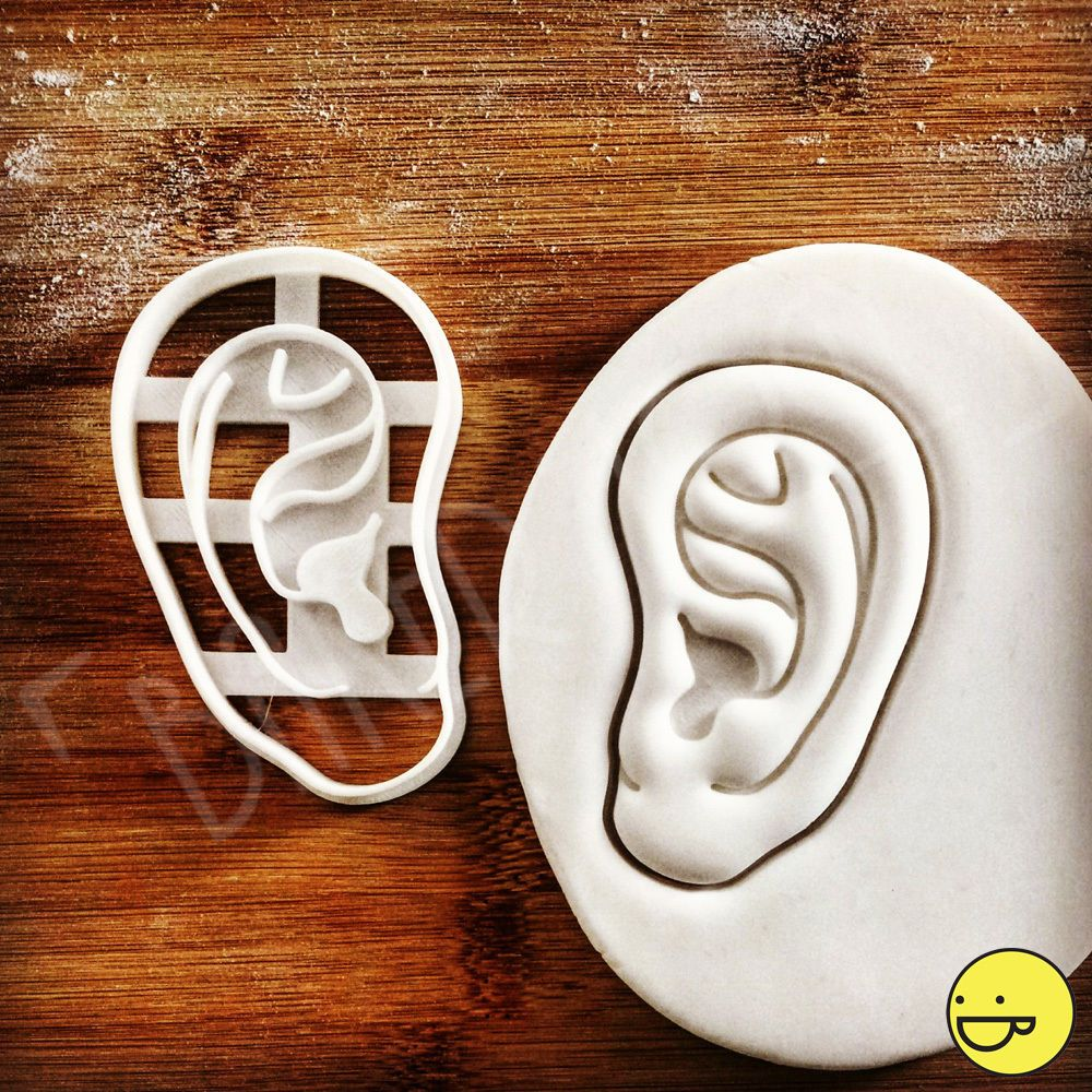 8.91 GBP - Anatomical Human Outer Ear Biscuit Cutter  Halloween ...