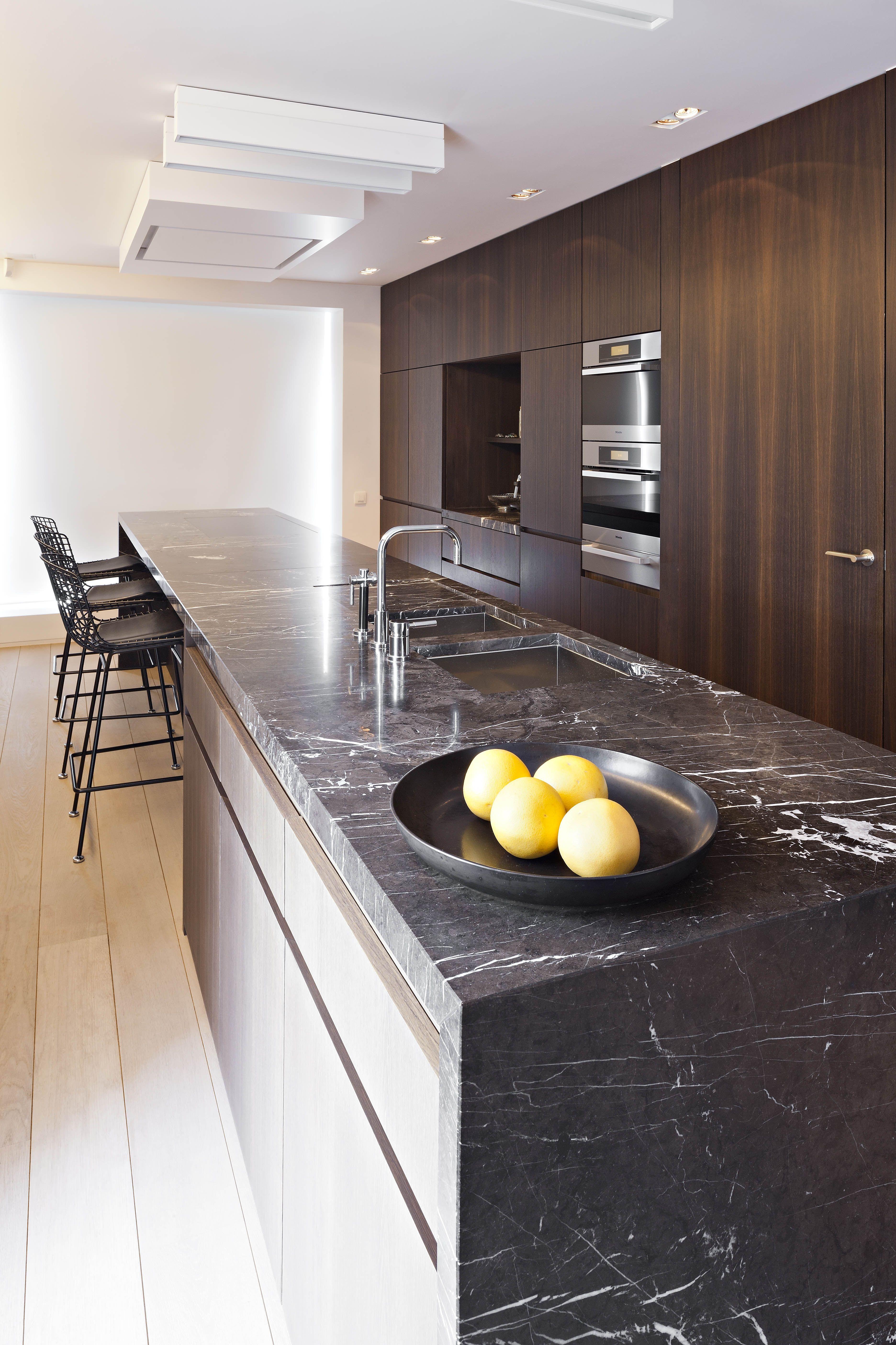 Realisations Natural Stone Hullebusch Kuche Loft Wohnung Kuche Kuchen Design