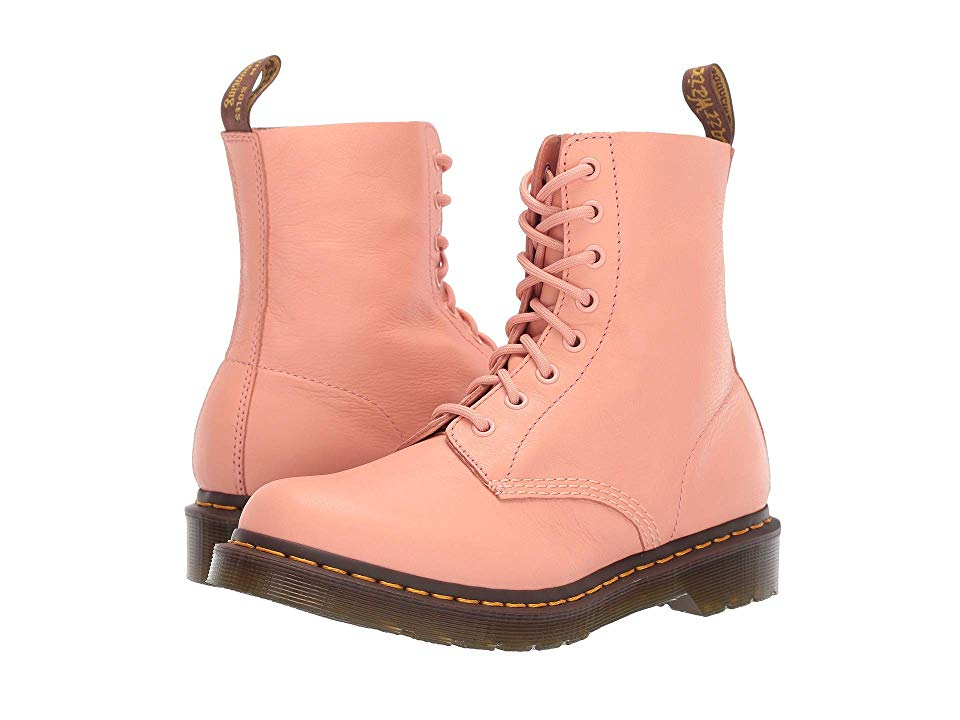 Details about Womens Dr Martens 1460 Pascal Salmon Pink Virginia Soft Premium Boots Size