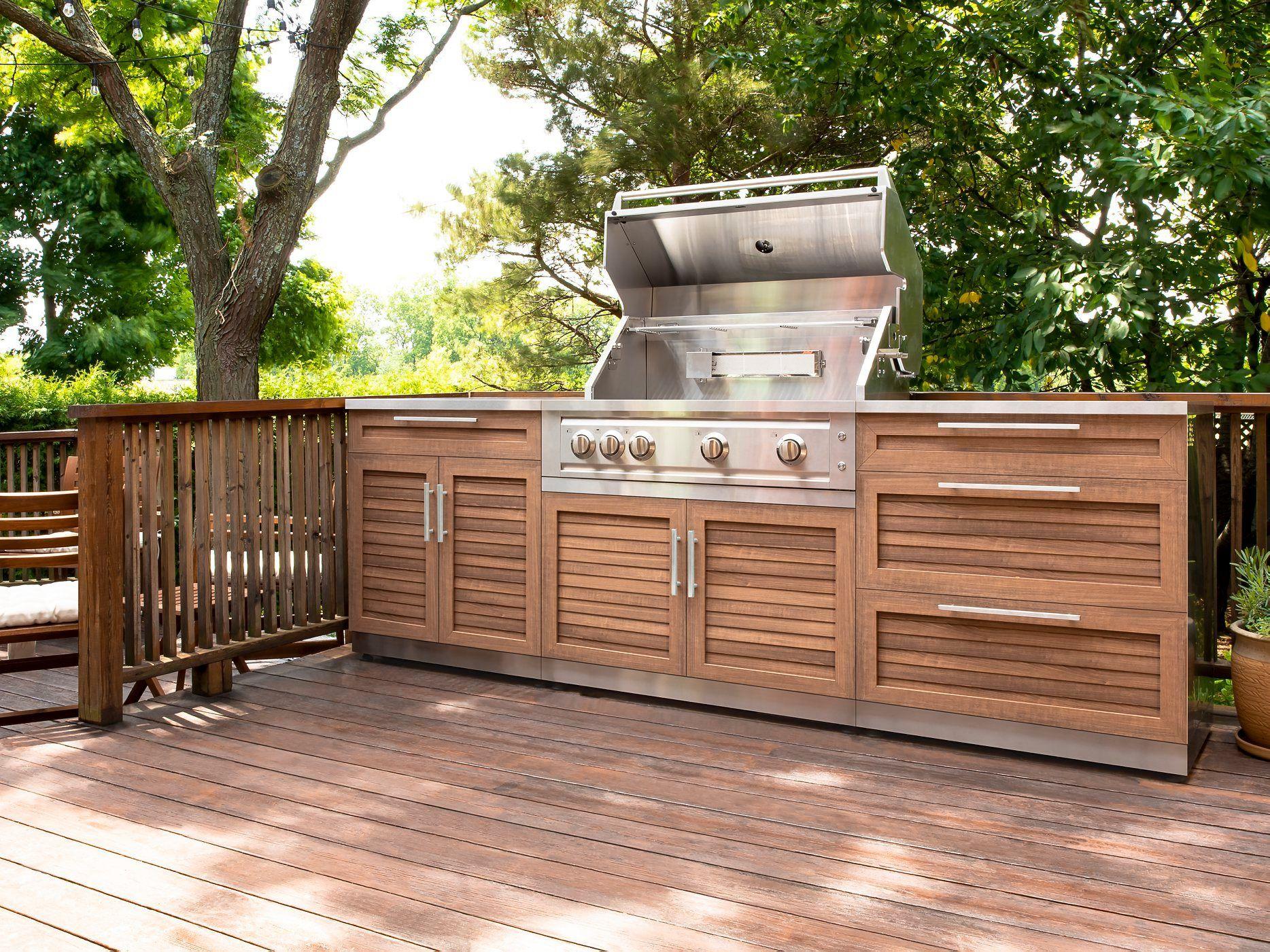 Outdoor Kitchen Stainless Steel 3 Piece Cabinet Set in ...