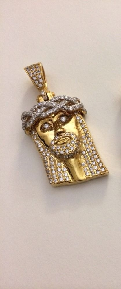2inch mini jesus pendant 3d white crown version available with a 2inch mini jesus pendant 3d white crown version available with a solid back this pendant is made out of gold alloy and is 14k gold plated a 26 aloadofball Choice Image