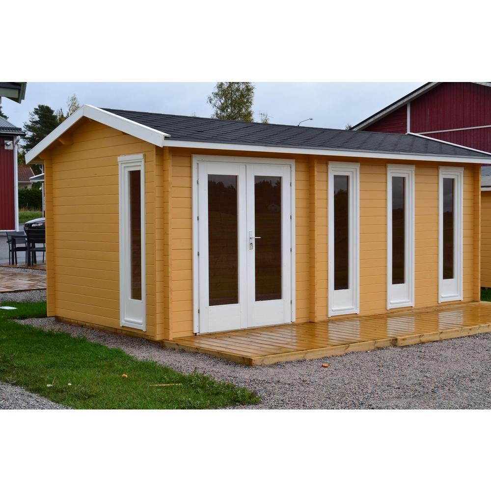 Hud1 ez buildings nice 237 in x 118 in x 104 in log