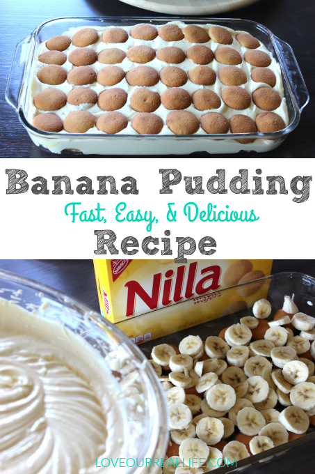 Banana Pudding // Fast, Easy, and Super Delicious! ⋆ Love Our Real Life #bananapudding