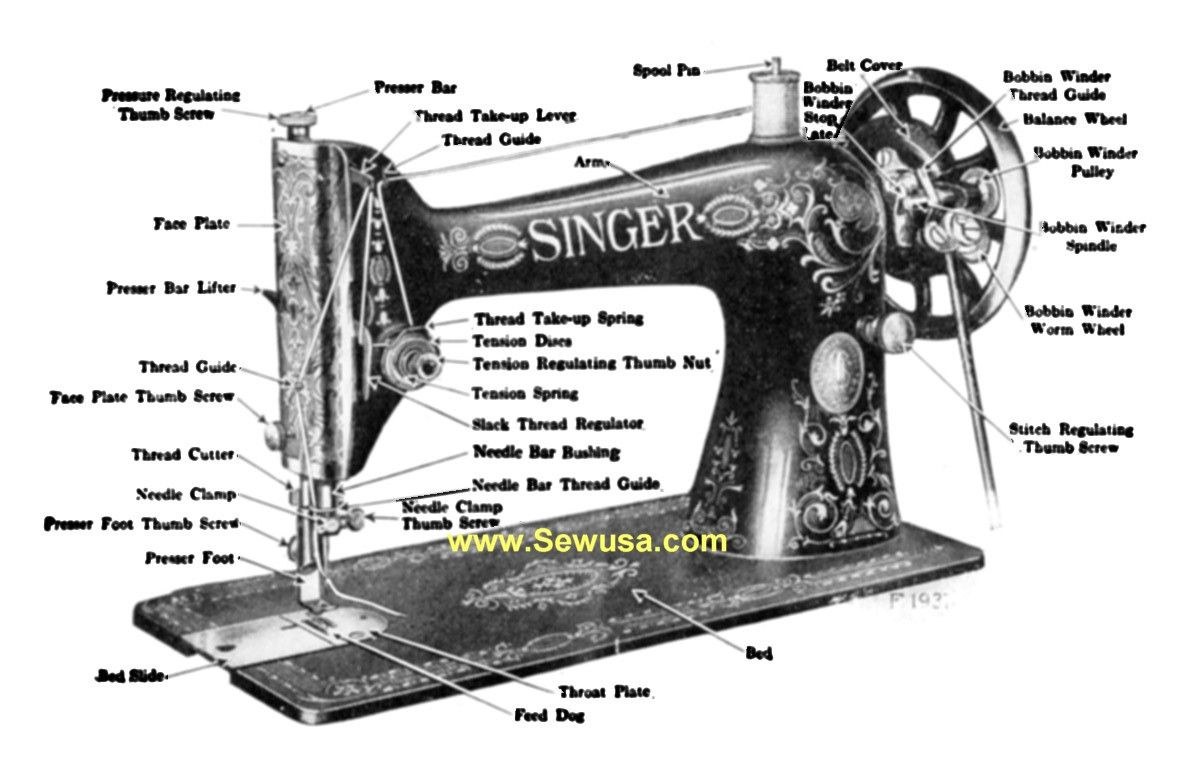 Singer Sewing Machine Manual Instruction and Repair