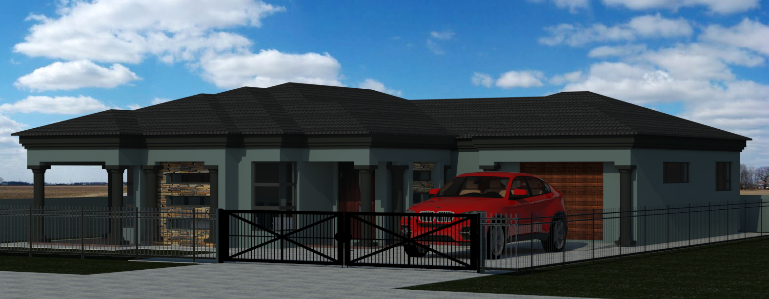 3 Bedroom House Plan Mlb 014 1 House Plans South Africa Tuscan House Plans Tuscan House