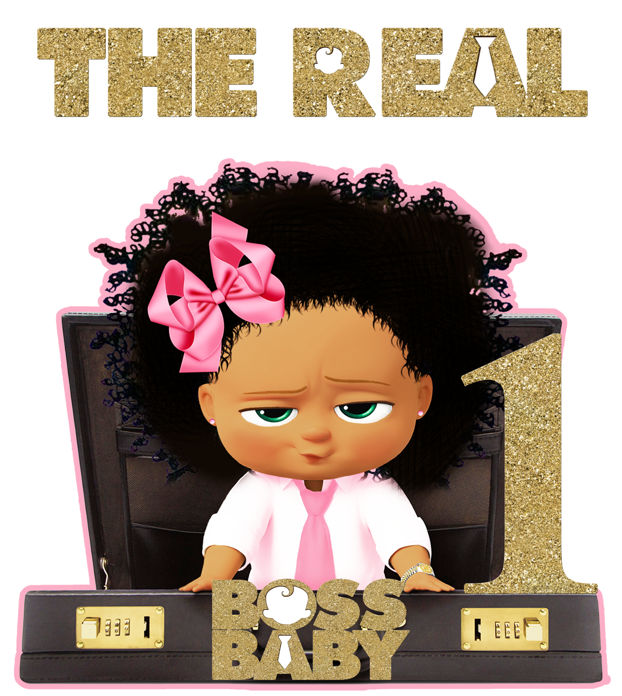Download Png Black Boss Baby Girl Png Gif Base Baby Girl Clipart Baby Birthday Party Girl Boss Baby
