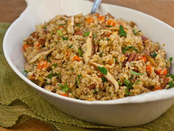 Quinoa Pilaf with Shiitake Mushrooms, Carrots and Pecans