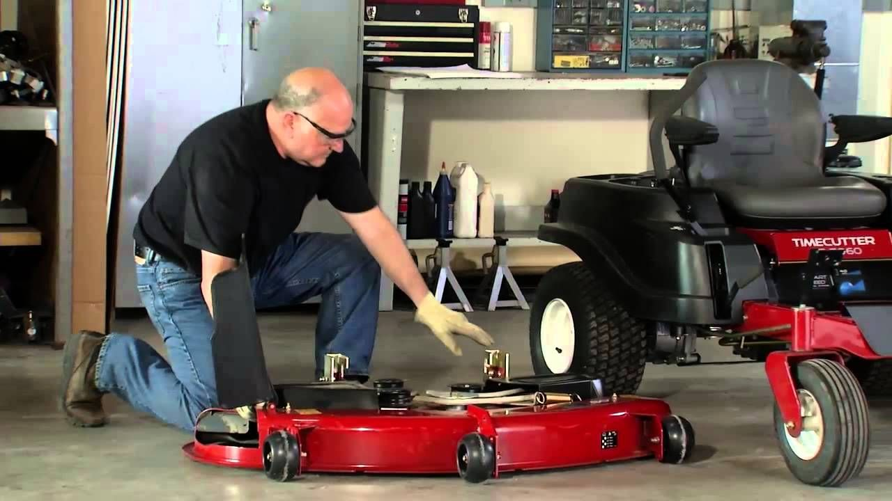 How to Remove a Mower Deck Toro TimeCutter Toro lawn