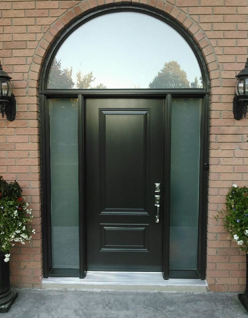 Executive Panel Front Entrance Door With Double Frosted