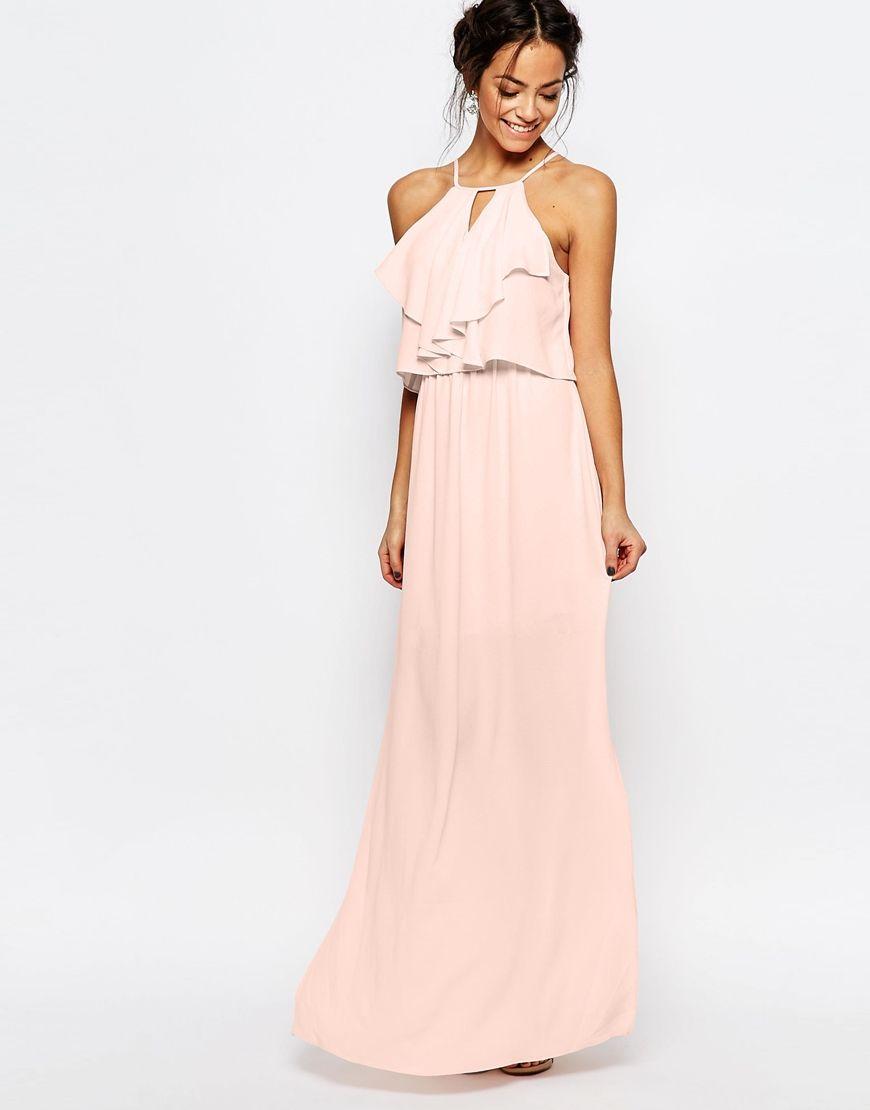Image 1 of New Look Crepe Frill Maxi Dress | Bridesmaids | Pinterest ...