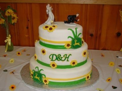 John Deere Wedding Cake By Carson on CakeCentral.com | Cakes ...